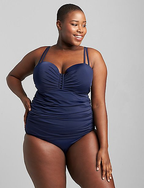 Fitted Underwire Swim Tankini Top