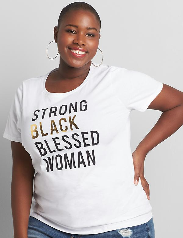 Strong Black Blessed Woman Graphic Tee