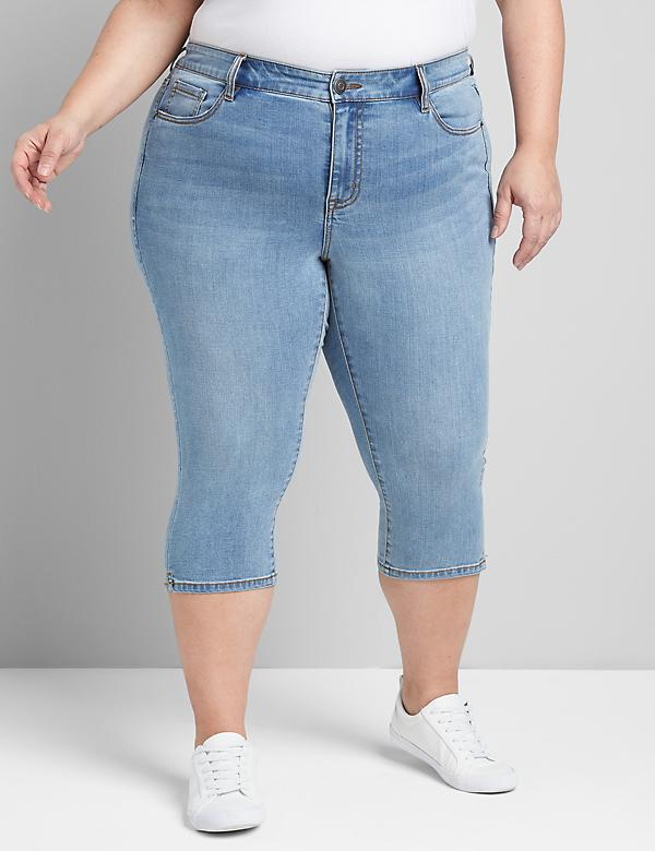 Lane Essentials Venezia Pedal Jean - Light Wash