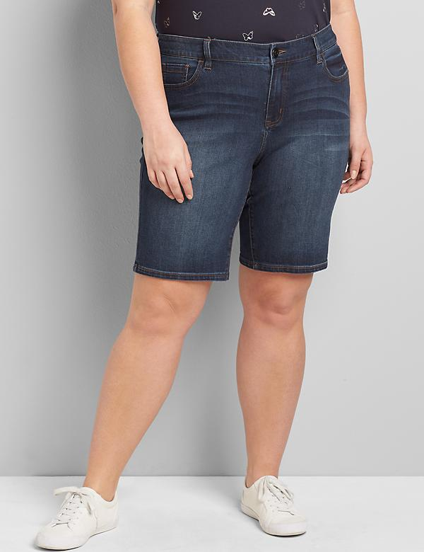 Lane Essentials Venezia Denim Bermuda Short - Dark Wash