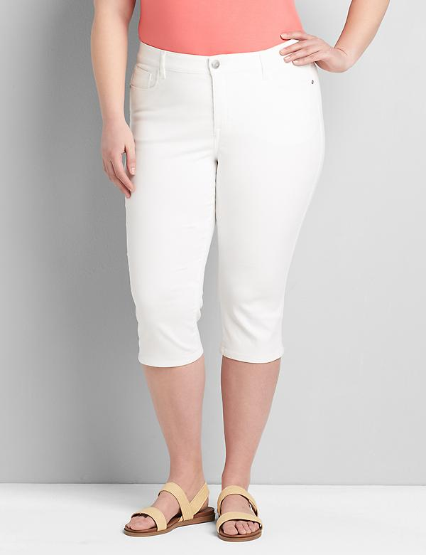 Lane Essentials Venezia Pedal Jean - White