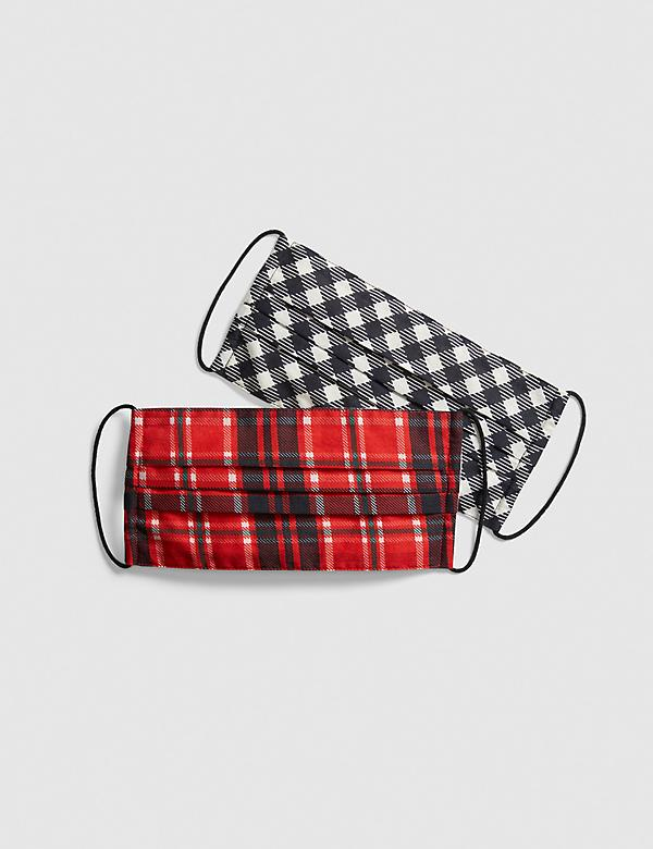 General Purpose Face Masks 2-Pack - Checkered & Plaid