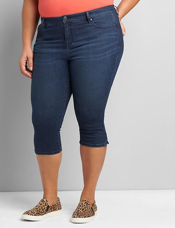 Straight Fit High-Rise Pedal Jean - Dark Wash