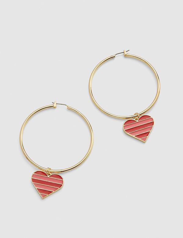 Reversible Heart Hoop Earrings