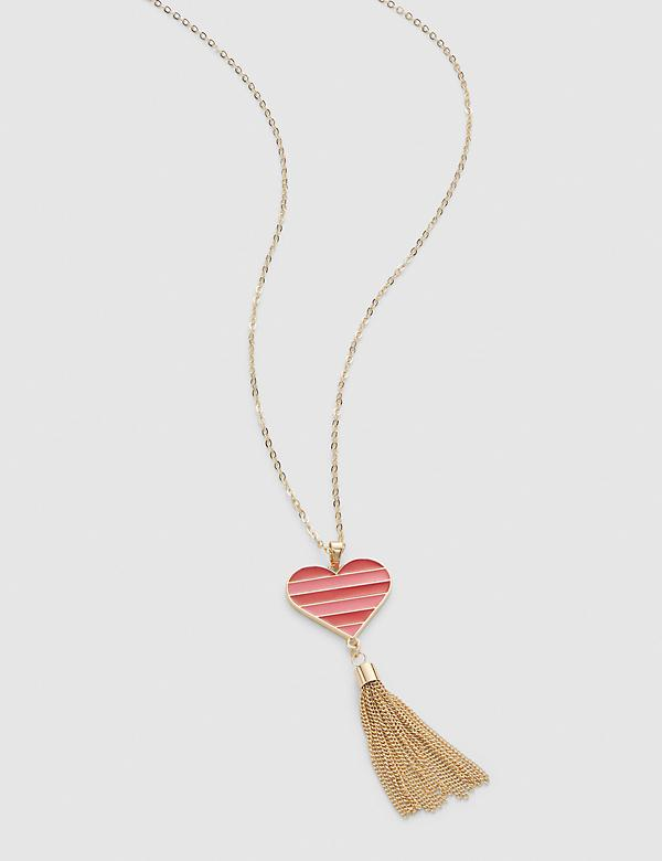 Reversible Heart Pendant Necklace