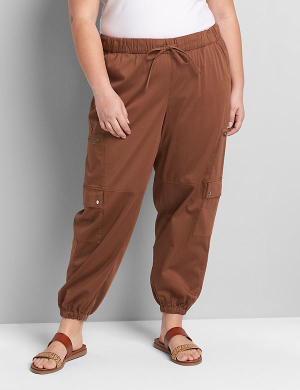 Soft Pull-On Relaxed Ankle Pant - Cargo