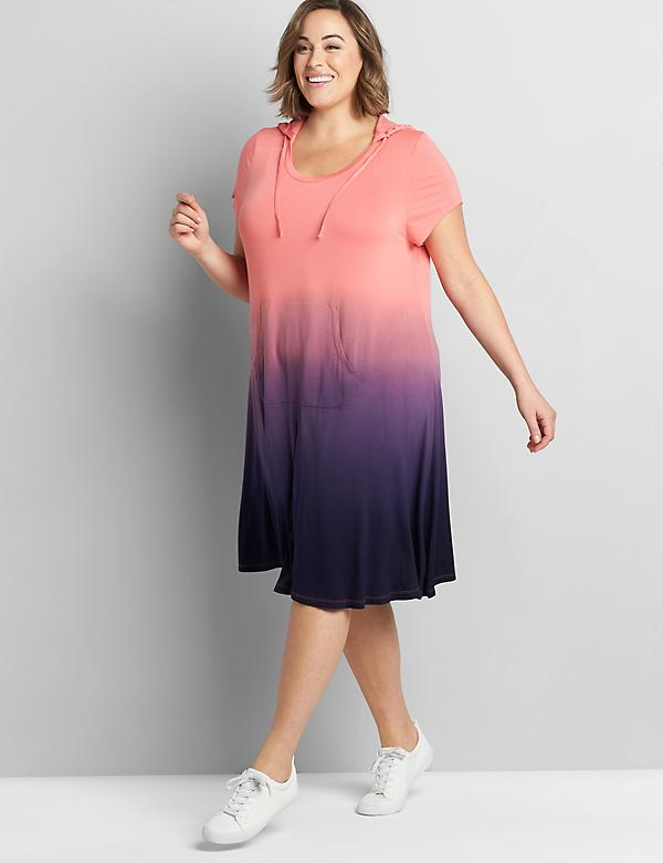 LIVI Short-Sleeve Hooded Dress
