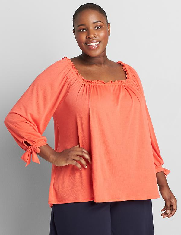 Double Square-Neck Swing Top