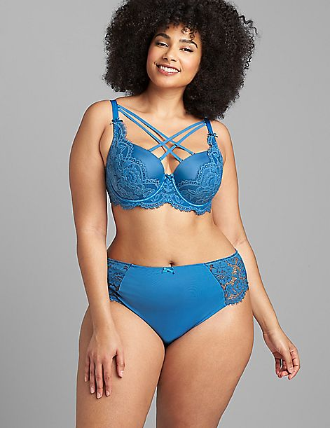 Boost Balconette Bra - Strappy Scallop Lace
