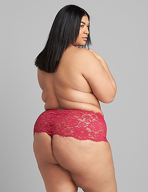 Lace Wide-Side Thong with Split Gusset
