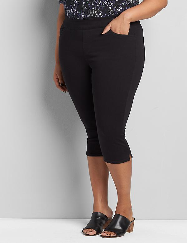 Pull-On Twill Skinny Pedal Pant