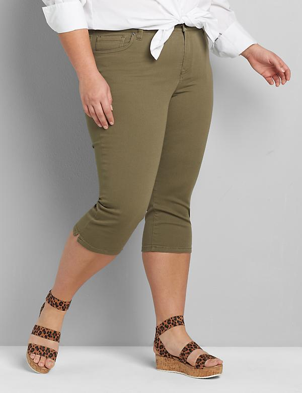Signature Fit Twill Skinny Pedal Pant
