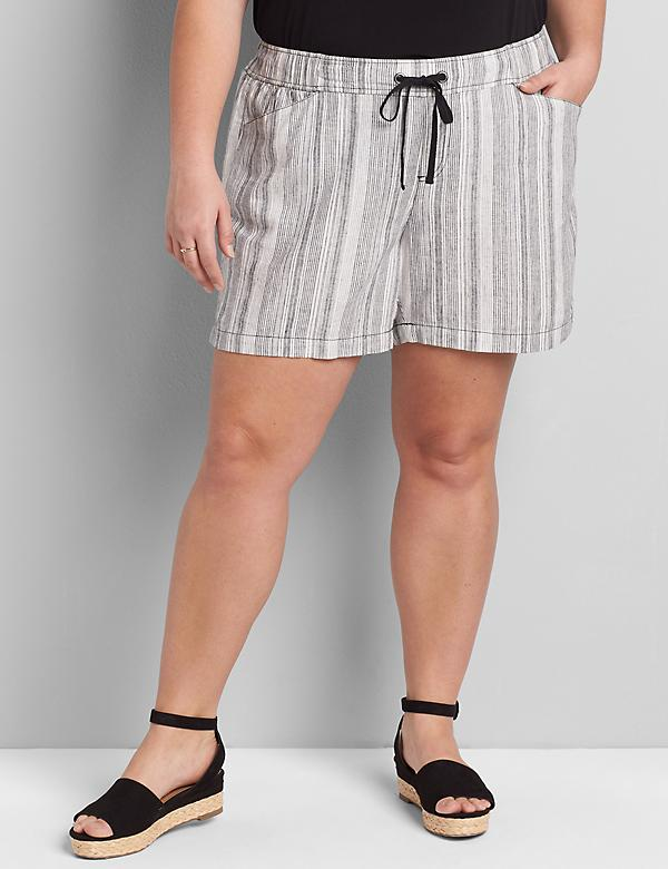 Lane Essentials Pull-On Linen Short - Striped