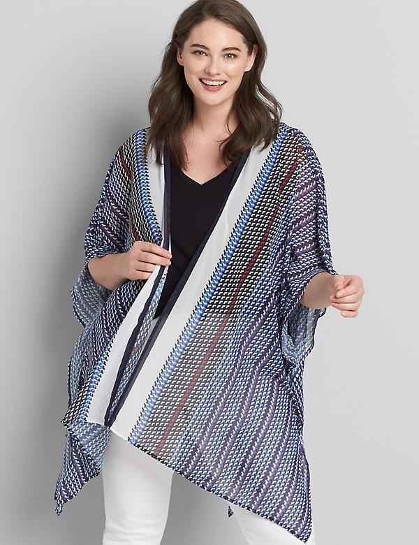 Striped Chiffon Overpiece