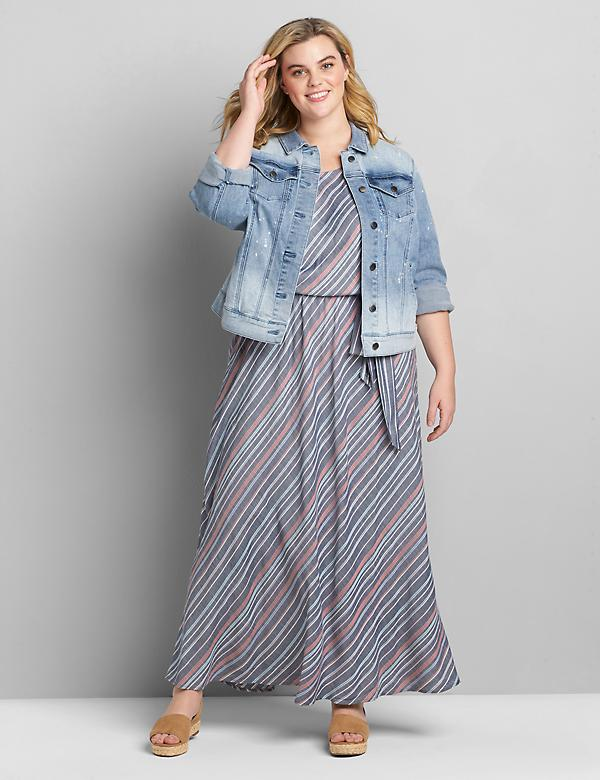 Multi-Color Striped Maxi Dress