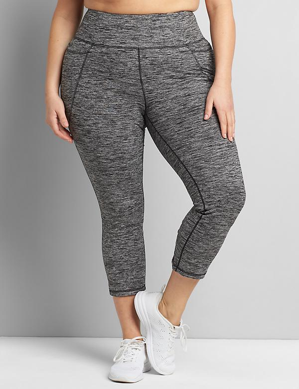 LIVI Capri Power Legging With Wicking - Criss-Cross Hem