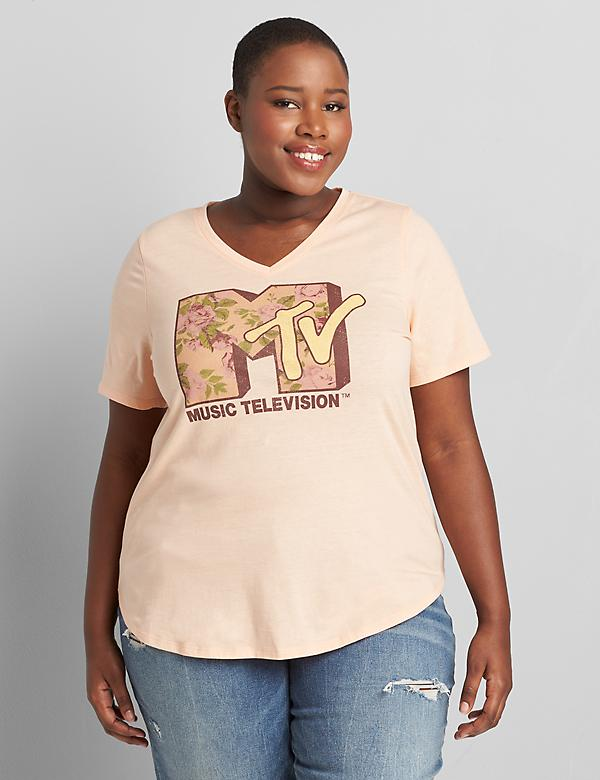 High-Low MTV Graphic Tee