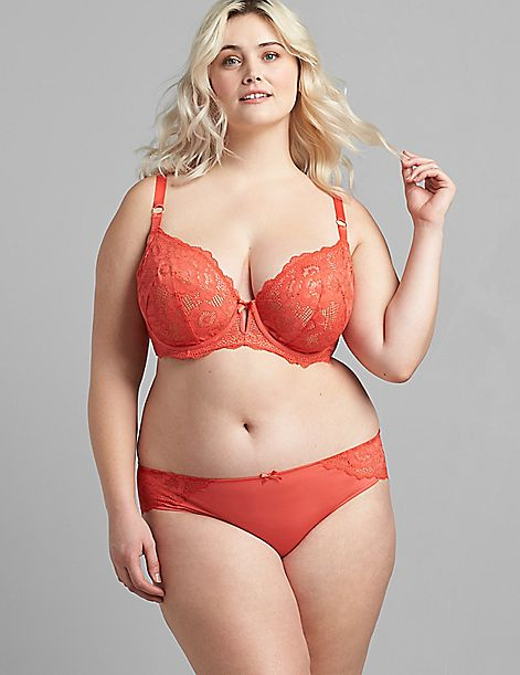 Lace Lightly Lined French Balconette Bra