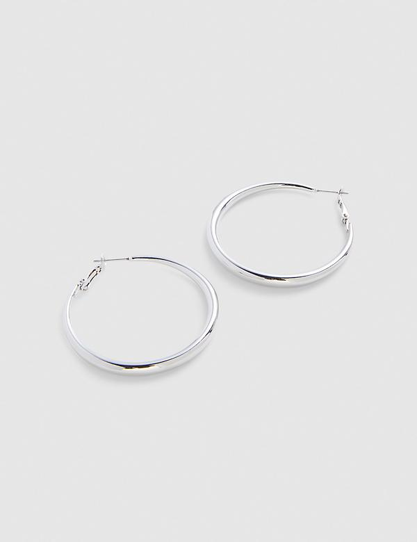 Polished Large Hoop Earrings