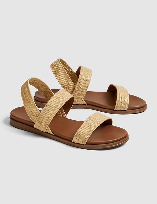 Lane Bryant Women/'s Ladies Sandals Shoes Flats Hot Coral Size Variations NIB