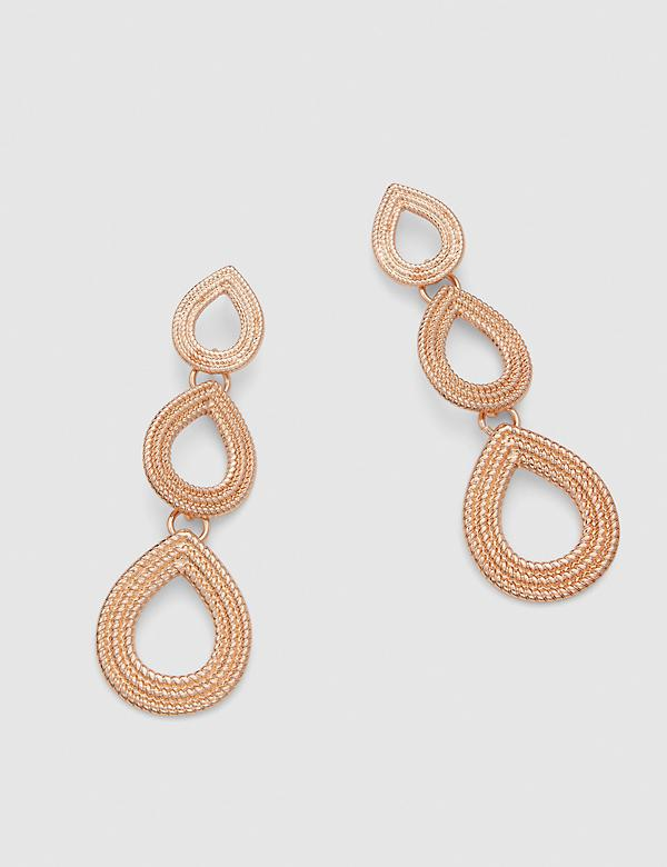Triple Textured Teardrop Earrings