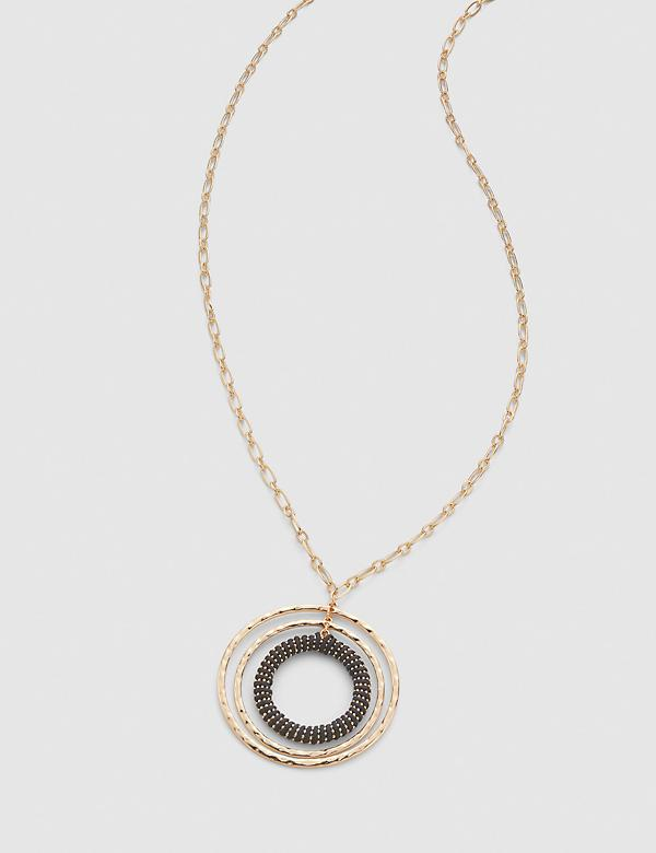 Triple-Circle Pendant Necklace