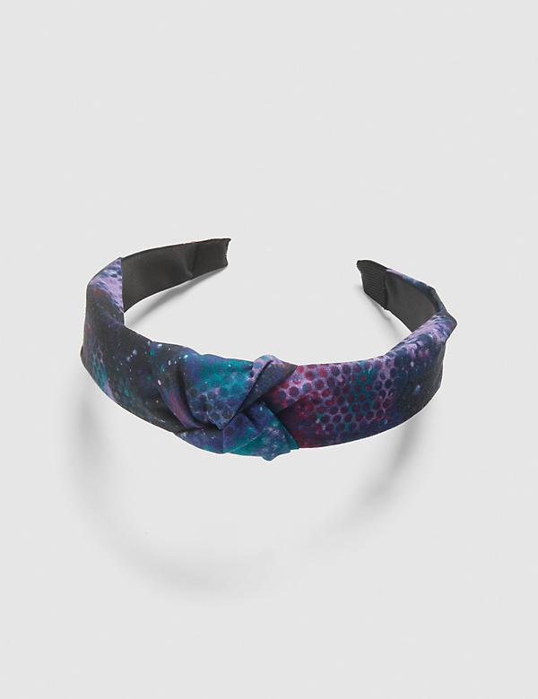 Knotted Headband - Purple Print