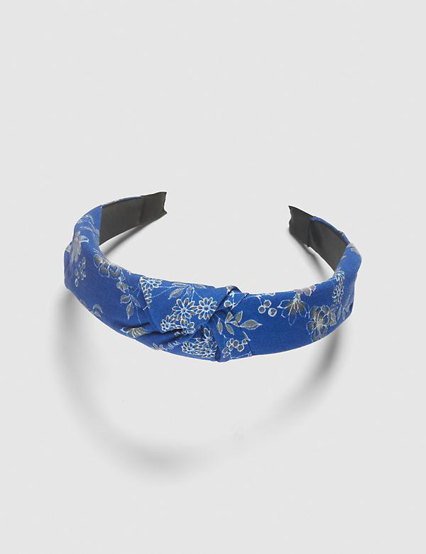 Knotted Headband - Blue Floral
