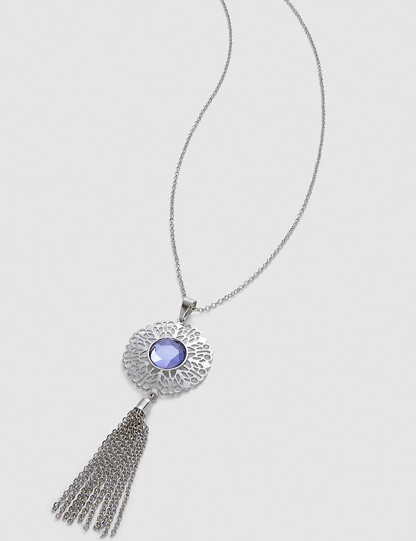 Filigree Tassel Pendant Necklace