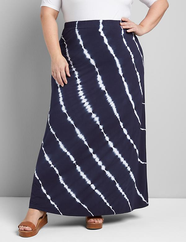 Pull-On Tie-Dye Maxi Skirt