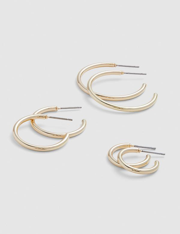 Open Hoop Earrings 3-Pack