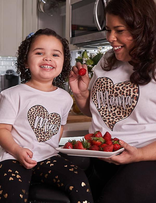 Cheetah Heart Mama Graphic Tee