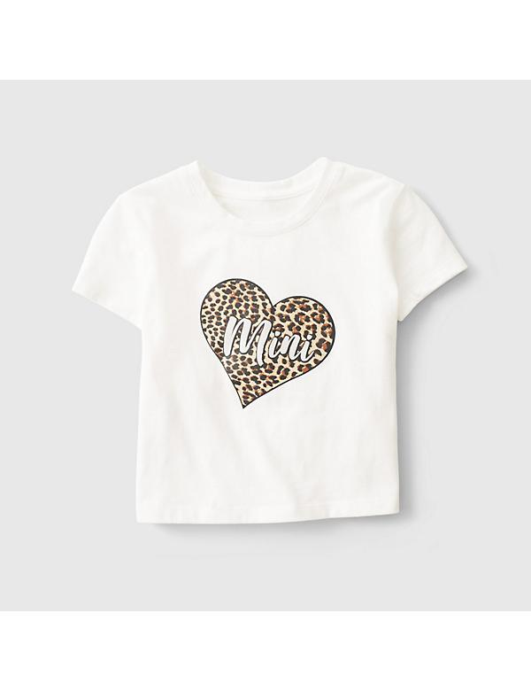 Kid's Cheetah Heart Mini Graphic Tee