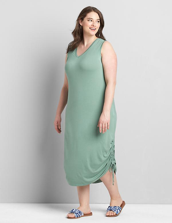 Ruched Side Midi Dress