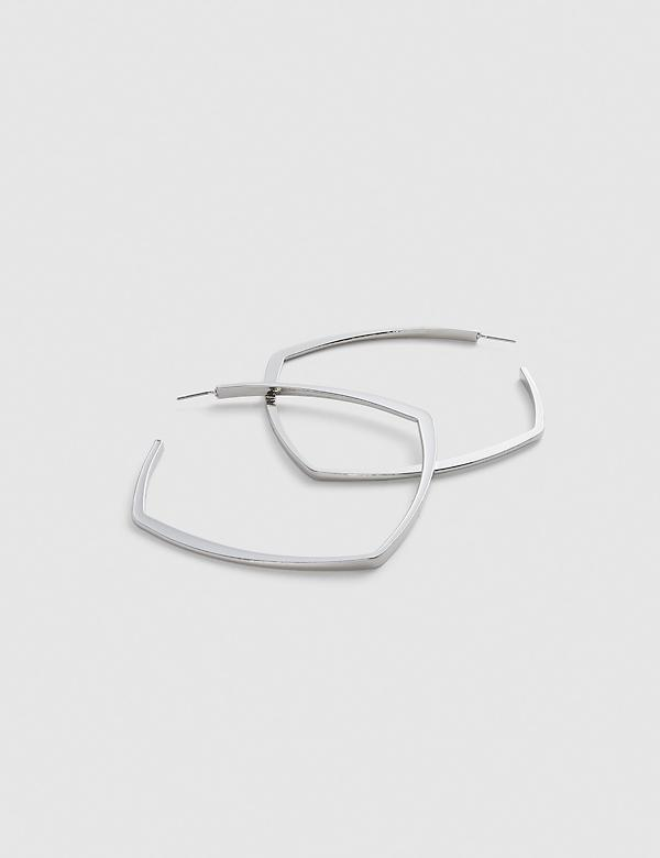 Flat Square Hoop Earrings