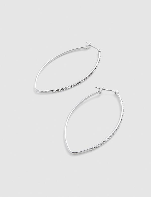 Diamond-Shaped Hoop Earrings