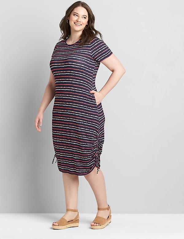 Side-Ruched Dress