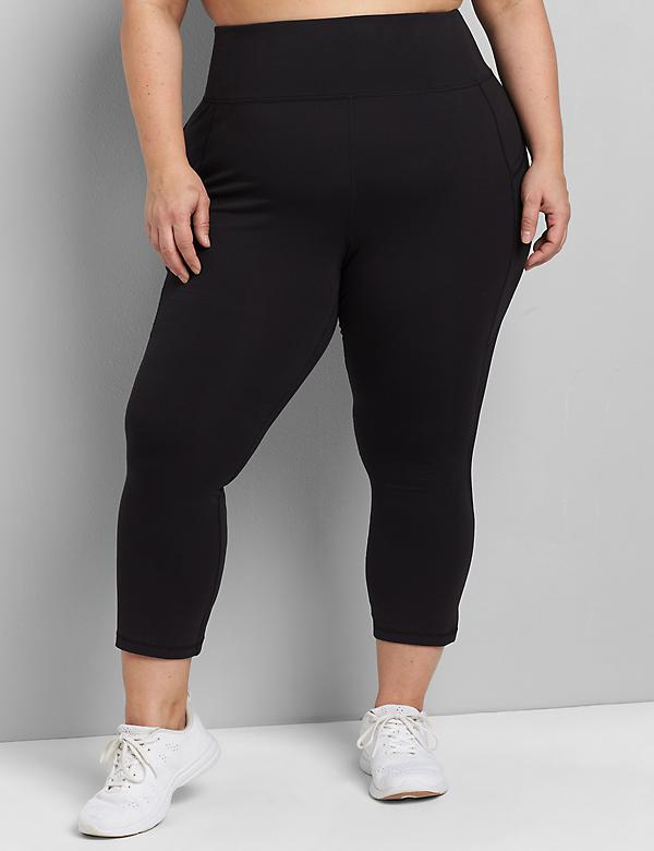 LIVI Capri Power Legging With Wicking - Side Mesh Inset