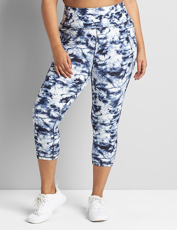 LIVI Capri Power Legging With Wicking - Tie-Dye