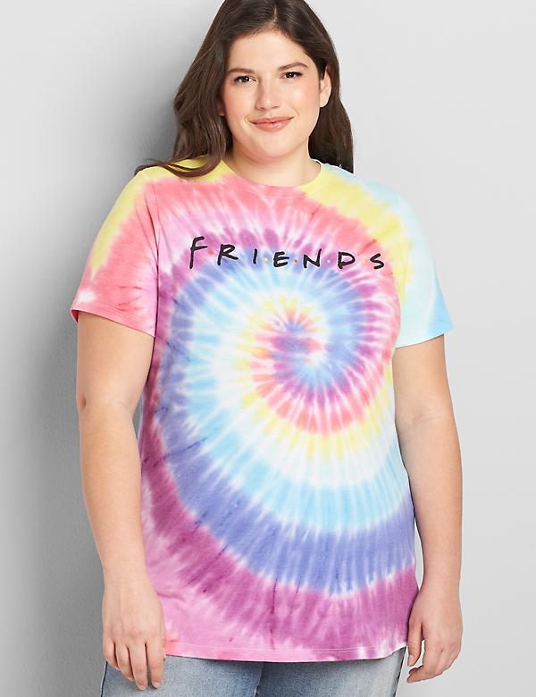 Friends Graphic Tie-Dye Tee