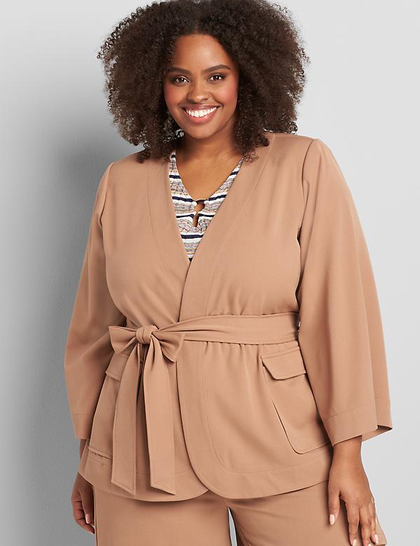 Perfect Drape Belted Jacket