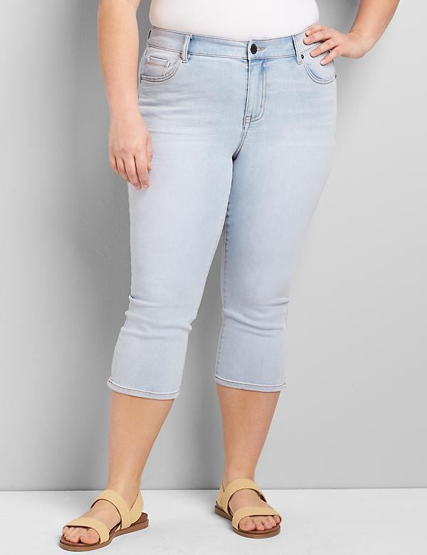 Signature Fit Pedal Jean - Light Wash