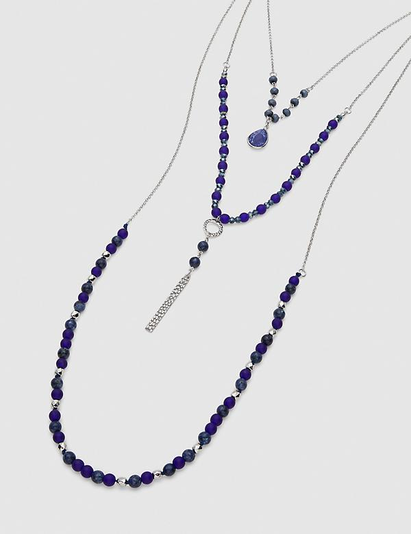 Convertible Multi-Layer Beaded Chain Necklace