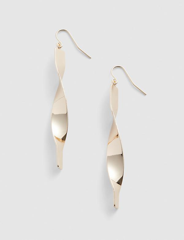 Goldtone Twist Drop Earrings