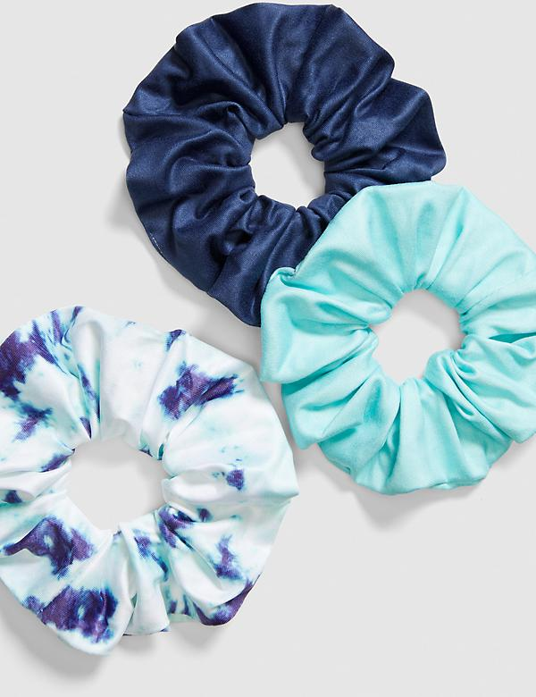 Hair Scrunchies - 3-Pack - Tie-Dye