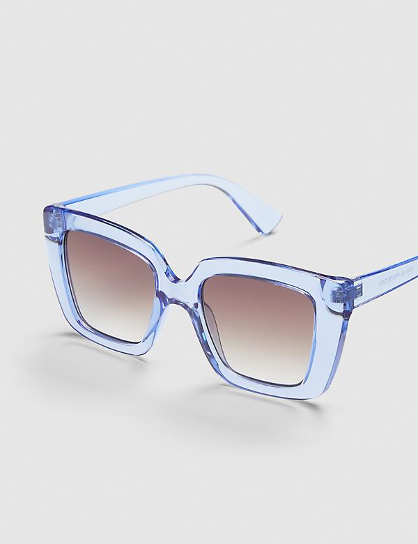 Square Sunglasses - Blue
