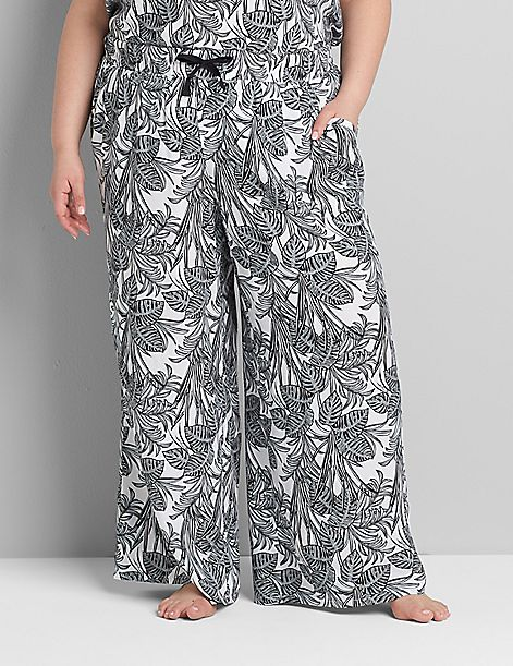 Printed Wide Leg Sleep Pant