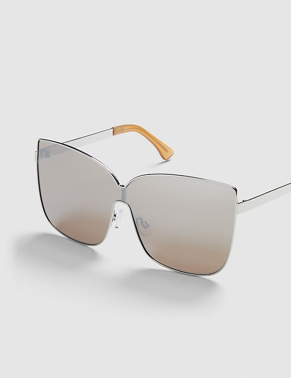 Shield Sunglasses - Silvertone