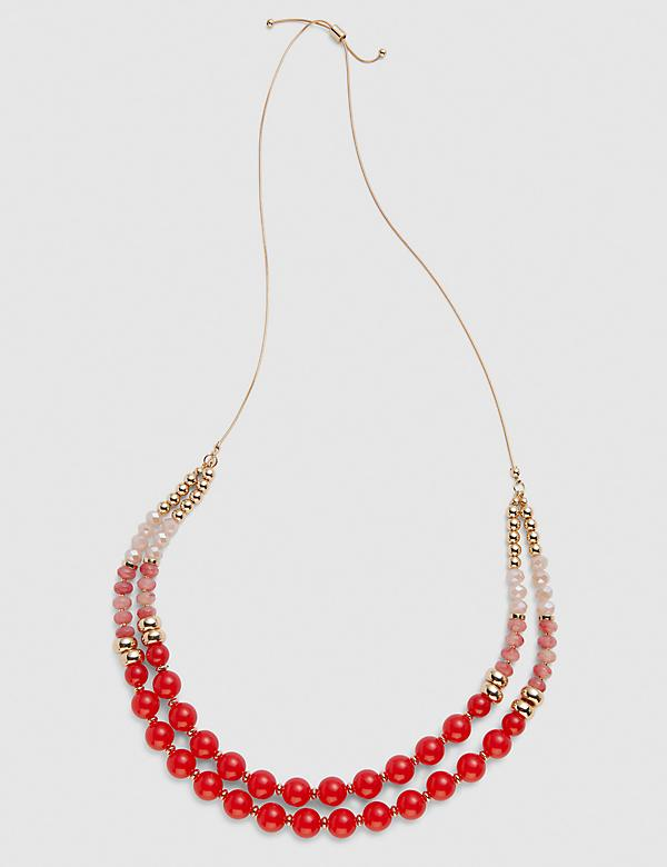 Convertible Double-Row Beaded Necklace