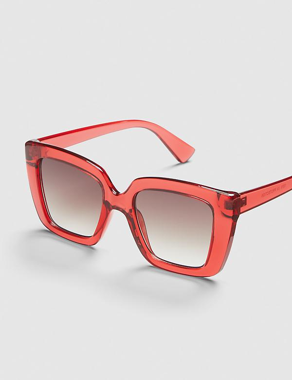 Square Sunglasses - Red